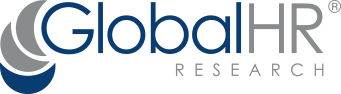 grey and blue global hr research logo