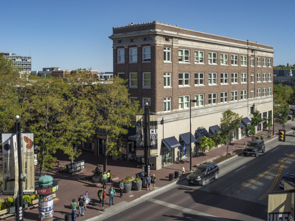 picture of the broadway building in boulder, colorado